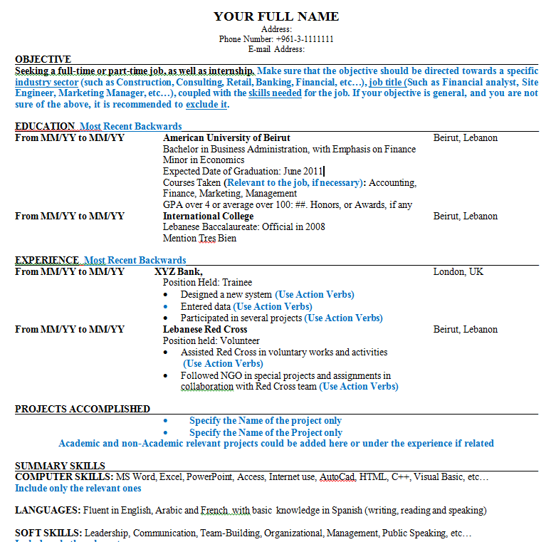 sample resume(CV)